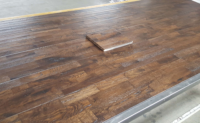 Distressed Solid Finger Joint Oak Flooring