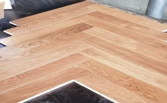 90mm French Oak Herringbone Wood Flooring