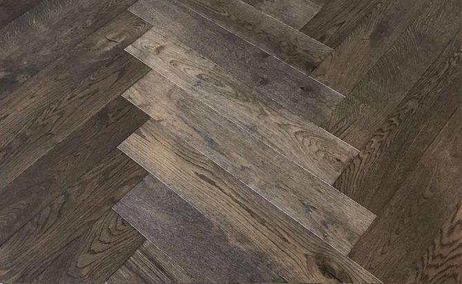 15/4mm European Oak Brushed Herringbones Flooring