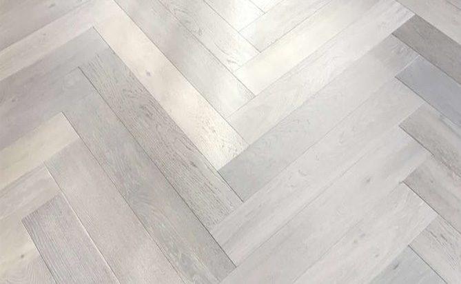 Wire Brush Fishbone Engineered Hardwood Floor