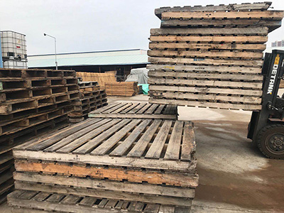 Reclaimed Pallets Are Being Processed Now
