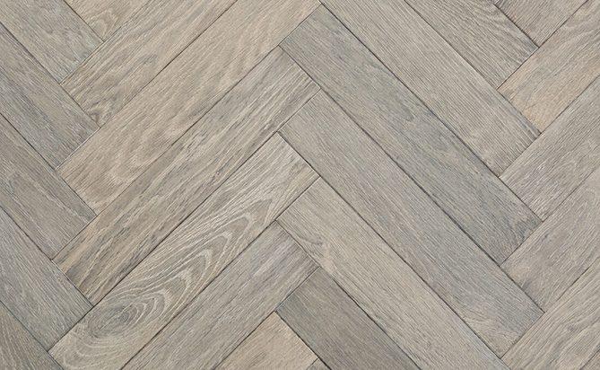 Brushed Solid Oak Herringbones Flooring