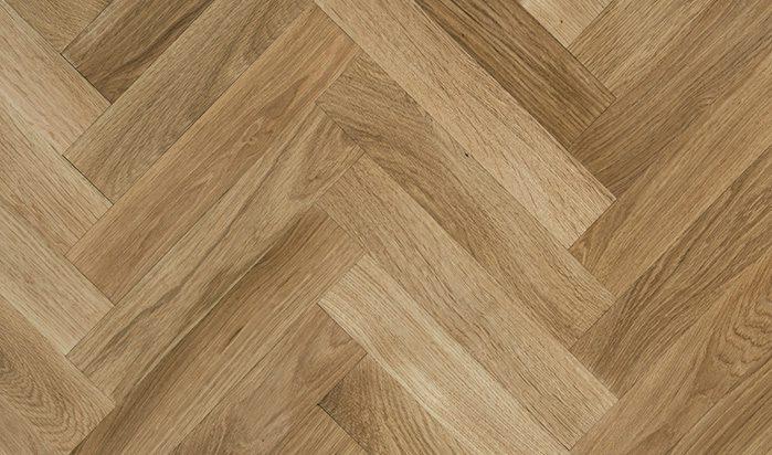 Solid Herringbones Natural Oiled Oak Flooring