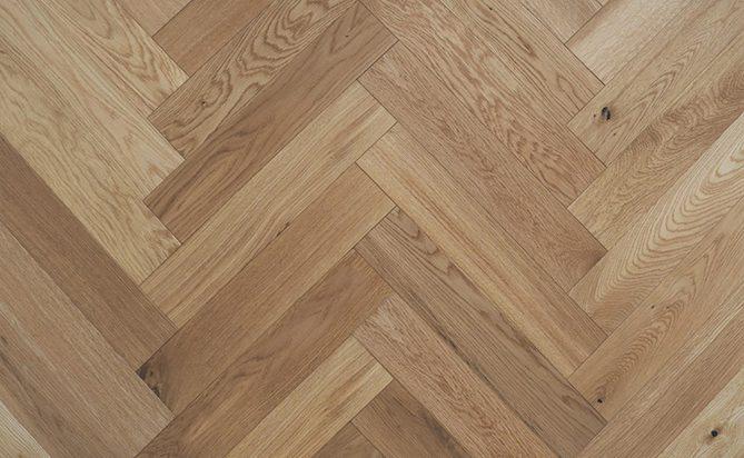 Solid Herringbones White Oak Wood Flooring
