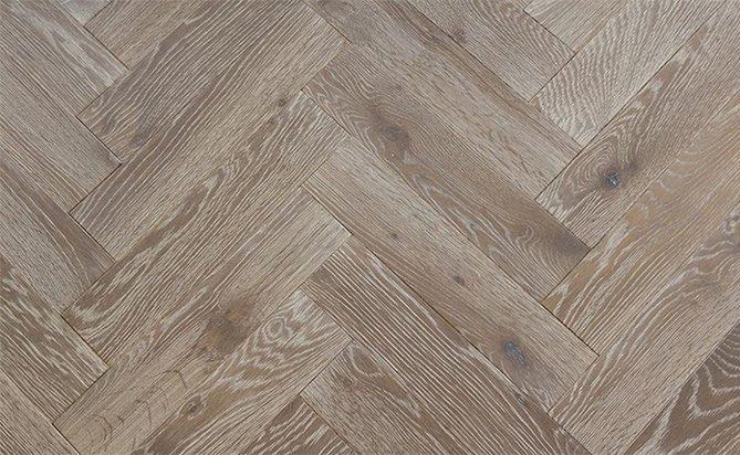 DIY Solid Herringbones Wood Flooring